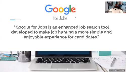 End of Summer School webinar: Google for Jobs